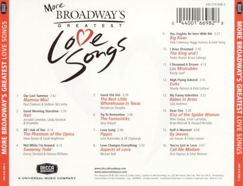 More Broadway's Greatest Love Songs
