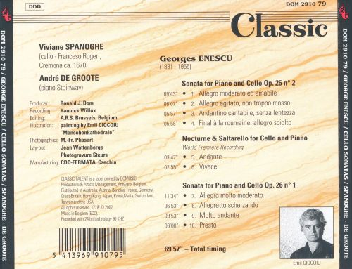George Enescu: Sonatas for Cello & Piano