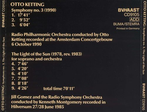 Otto Ketting: Symphony No. 3; The Light of the Sun