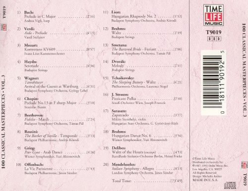 100 Classical Masterpieces, Vol. 3 [Time-Life]