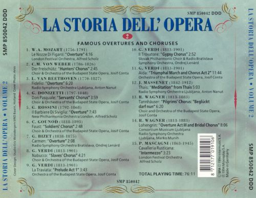 La Storia dell'Opera, Vol. 2: Famous Overtures and Choruses