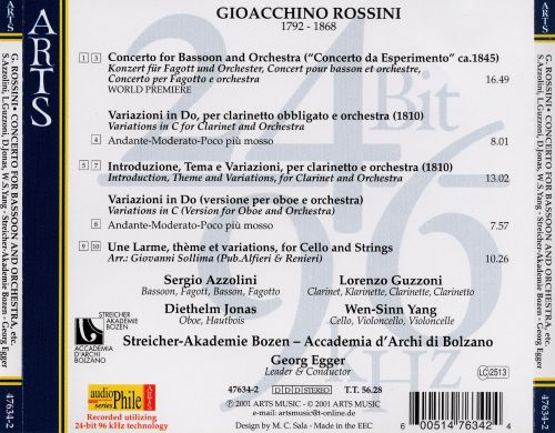 Rossini: Concerto for Bassoon and Orchestra