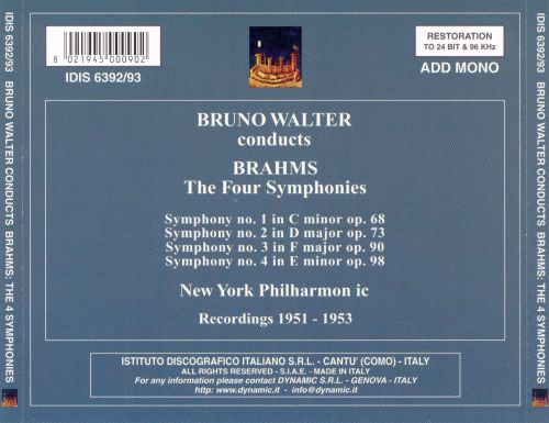Bruno Walter Conducts Brahms: The Four Symphonies