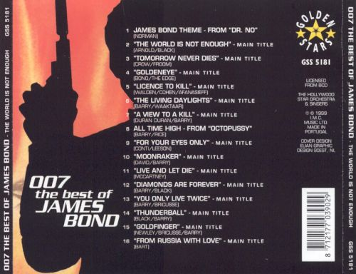 The World Is Not Enough: The Best of James Bond 007