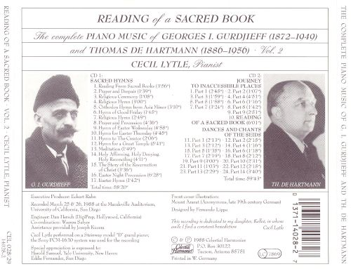 Reading of a Sacred Book: The Complete Piano Music of Georges I. Gurdjieff and Thomas de Hartmann, Vol. 2