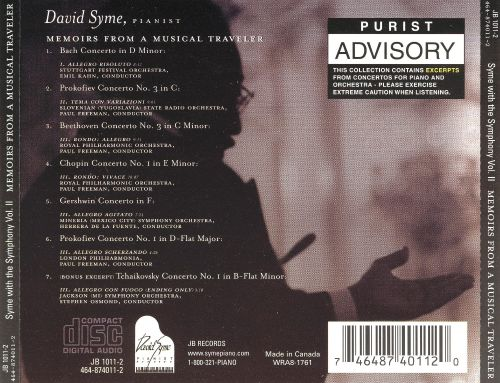 Syme with the Symphony, Vol. 2: Memoirs from a Musical Traveler