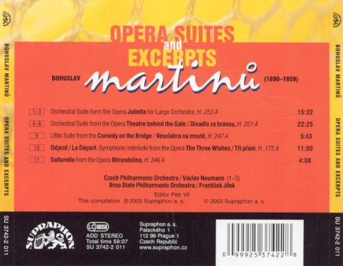 Martinu: Opera Suites and Excerpts