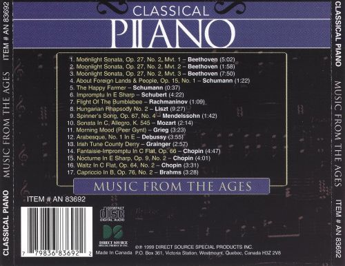 Classical Piano: Music from the Ages