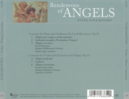 Rendezvous of Angels, Vol. 14: Tchaikovsky - Violin & Piano Concertos