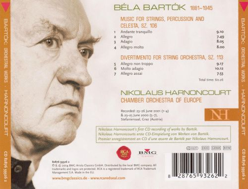 Béla Bartók: Music for Strings, Percussion and Celesta; Divertimento for String Orchestra