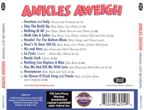 Ankles Aweigh [Original Broadway Cast]