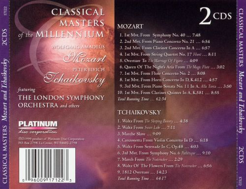 Classical Masters of the Millennium: Wolfgang Amadeus Mozart & Peter Ilyich Tchaikovsky