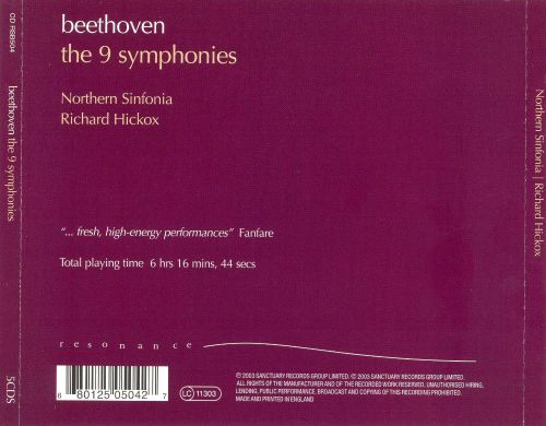 an overview of nine beethoven symphonies This section is not intended to be a review of existing cds good critics have  done this  title roger norrington: the nine symphonies on ancient instruments.