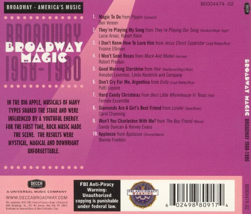 Broadway Magic: Broadway, 1968-1980