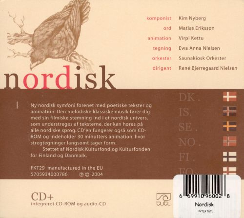 Kim Nyberg: Nordisk [CD plus CD-Rom]