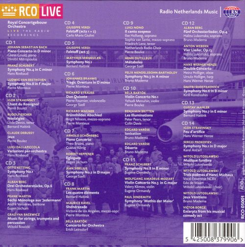 Anthology of the Royal Concertgebouw Orchestra, Vol. 3, 1960-1970