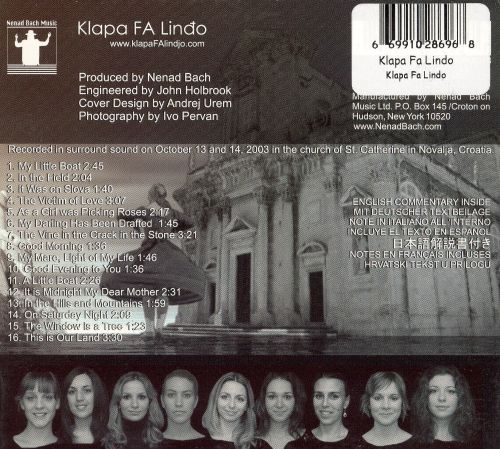 Mediterranean Sounds, Croatia's Mystic Voices: Klapa FA Lindo