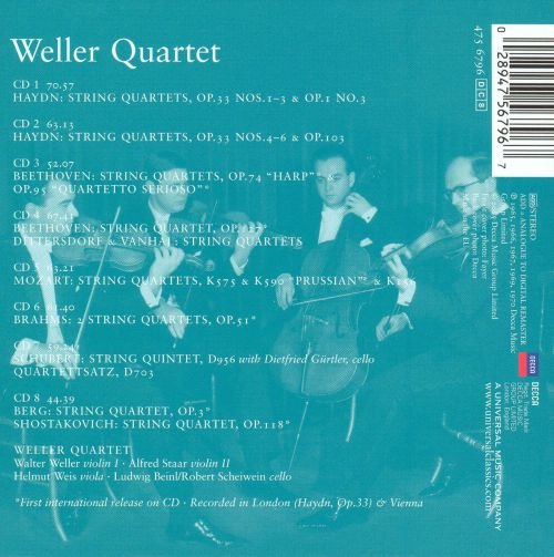 Weller Quartet: Decca Recordings, 1964-1970