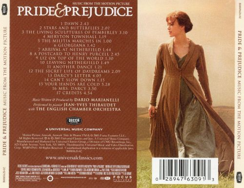 Pride and Prejudice [Music from the Motion Pictures]