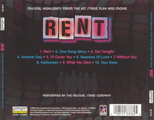a review on the 1996 hit musical rent The final musical entry in the 1995-96 season, rent is the best show in years, if not decades larson, on the cusp of 36 when he died of an aortic aneurysm, wrote songs in a wide range of.