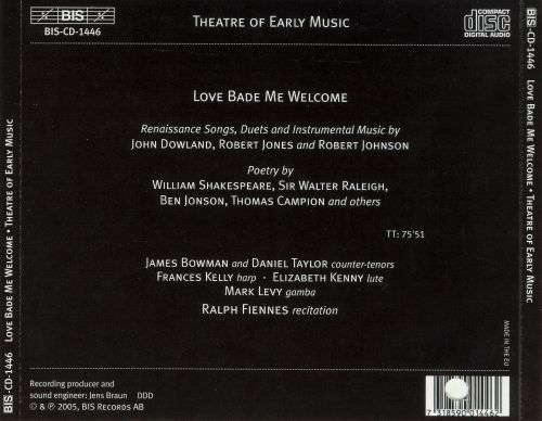 Love Bade Me Welcome: Songs and Poetry from the Renaissance