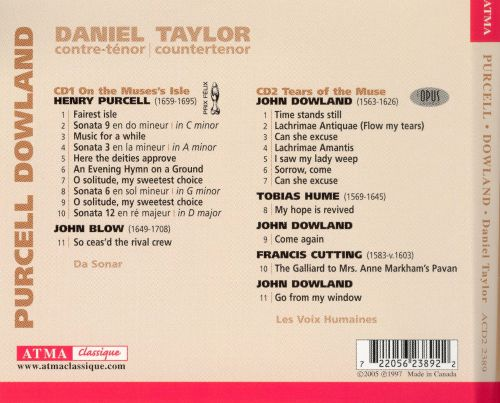 Daniel Taylor Sings Purcell & Dowland