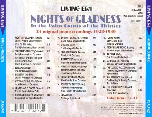Nights of Gladness: In the Palm Courts of the Thirties