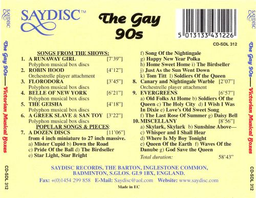 from Kaiden music of the gay 90 s