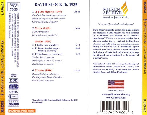 David Stock: A Little Miracle; Yizkor; Y'rusha; Tekiah