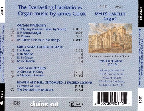 The Everlasting Habitations: Organ Music by James Cook