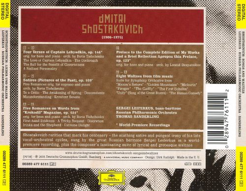 Shostakovich: Songs and Waltzes