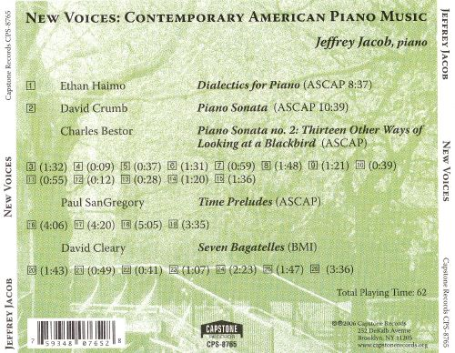 New Voices: Contemporary American Piano Music