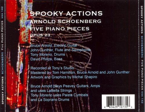 Arnold Schoenberg's Five Piano Pieces, Op. 23, with Improvisation