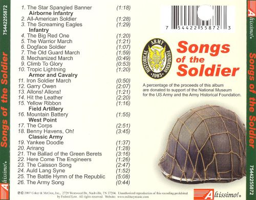 Songs of the Soldier: 26 Time Honored Classics