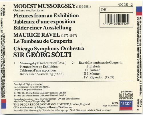 Mussorgsky-Ravel: Pictures from an Exhibition