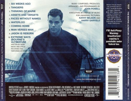 The Bourne Ultimatum [Original Motion Picture Soundtrack]