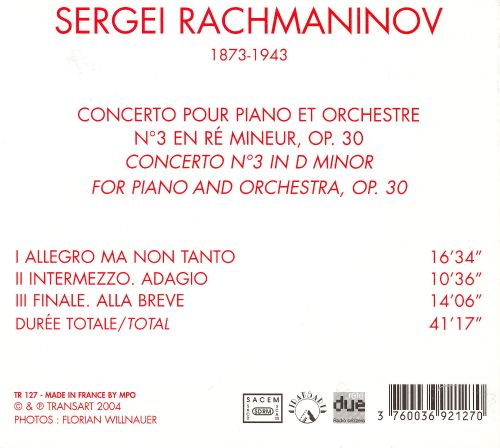 Rachmaninov: Piano Concerto No. 3