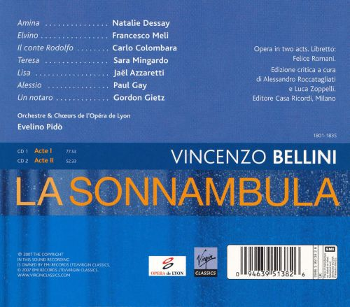 la sonnambula dessay review La sonnambula movie review, trailer, synopsis and new zealand screening times mary zimmerman, who directed natalie dessay in last season's hit new production of.