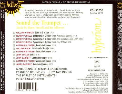 Sound the Trumpet: Music by Henry Purcell and His Followers
