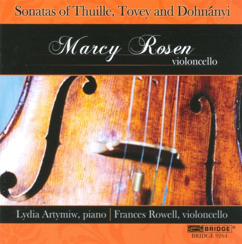 Sonatas of Thuille, Tovey and Dohnányi