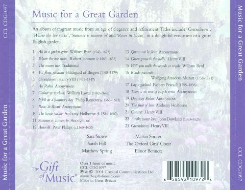 Music for a Great Garden: Garden Themes from Our Musical Heritage