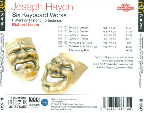 Haydn: Six Keyboard Works Played on Historic Fortepianos
