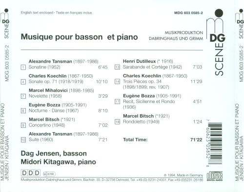 Works for Bassoon & Piano
