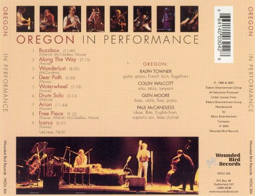 Oregon in Performance