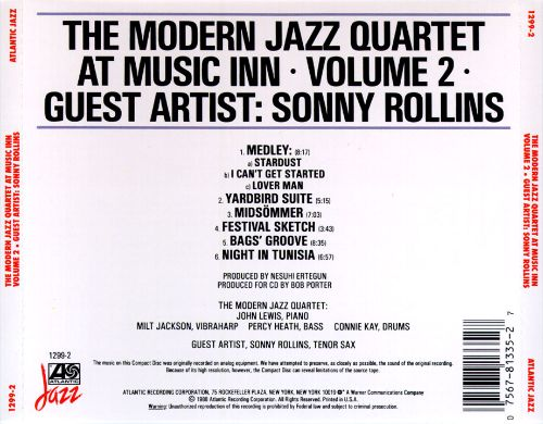 The Modern Jazz Quartet at Music Inn, Vol. 2