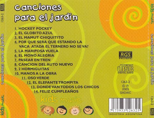 canciones para el jardin various artists songs