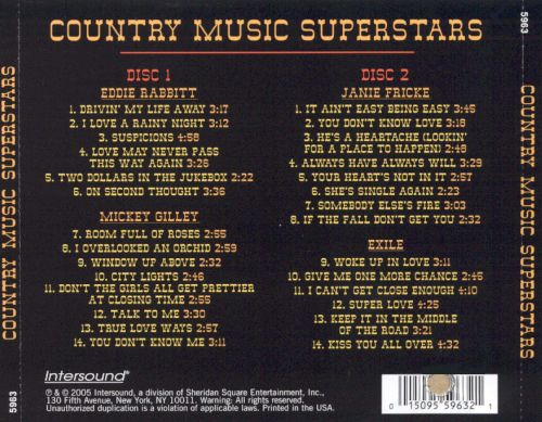 Country Music Superstars