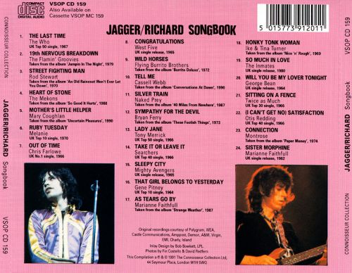 Jagger/Richard Songbook