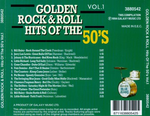 Golden Rock & Roll Hits of the 50's, Vol. 1
