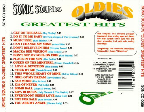 Sonic Sounds Greatest Hits
